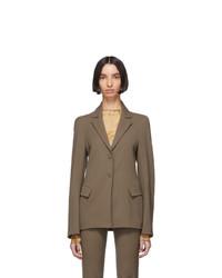 Charlotte Knowles Grey Wool Exos Blazer