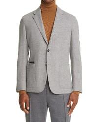 Ermenegildo Zegna Informale Herringbone Wool Cashmere Sport Coat