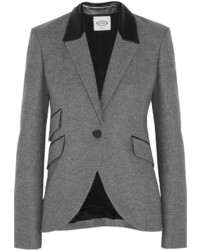 Tod's Leather Trimmed Wool Blazer