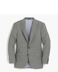 J.Crew Ludlow Slim Fit Wide Lapel Suit Jacket In Grey Stretch Italian Worsted Wool