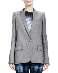 Stella McCartney Melange Jacket With Split Back Gray