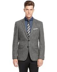 be897d579 ... Hugo Boss Rhett Extra Slim Fit Stretch Wool Blend Elbow Patch Sport Coat  Open Grey