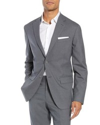 Nordstrom Men's Shop Tech Smart Trim Fit Stretch Wool Travel Sport Coat