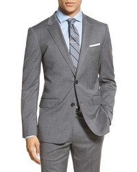 Bonobos Trim Fit Solid Stretch Wool Sport Coat