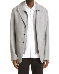 Givenchy Wool Blazer With Removable Hooded Vest