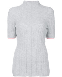 Victoria Beckham Ribbed Detail Roll Neck Top