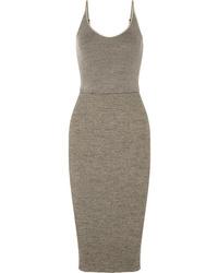 Grey Wool Bodycon Dress