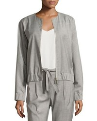 Antonelli fiorano zip front bomber jacket gray medium 3640518