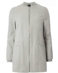 Grey Zip Bomber Jacket