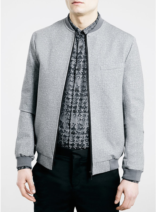 Topman Grey Jersey Bomber Jacket | Where to buy & how to wear