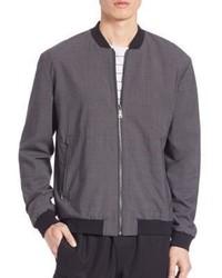 Worsted wool reversible bomber jacket medium 617303