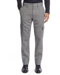Grey Wool Cargo Pants