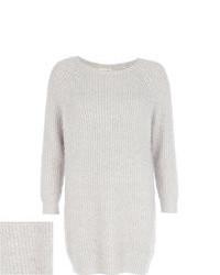 River Island Grey Fluffy Sweater Dress
