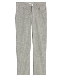 Brax Cooper Five Pocket Houndstooth Stretch Wool Trousers