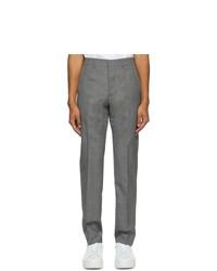 AMI Alexandre Mattiussi Grey Cigarette Fit Trousers