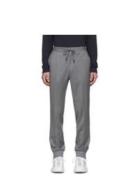 Z Zegna Grey Merino Wash And Go Trousers