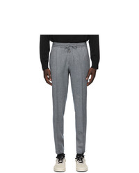 Z Zegna Grey Wool Banded Lounge Pants