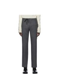Maison Margiela Grey Wool Casual Trousers