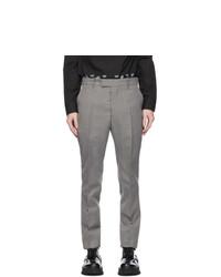 Maison Margiela Grey Wool Twill Trousers