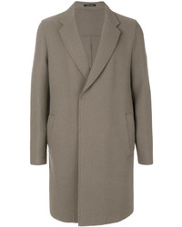 Emporio Armani Raw Hem Coat