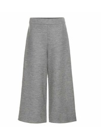 The Row Hensa Wide Leg Cropped Wool Trousers