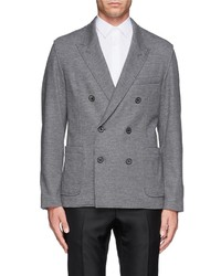 Nobrand Double Breasted Jersey Blazer