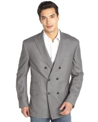 Brunello Cucinelli Grey Double Breasted 2 Button Wool Jacket