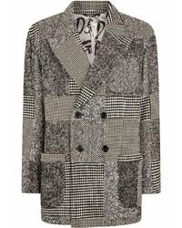 Dolce & Gabbana Patchwork Print Double Breasted Blazer