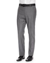 Incotex Benson Sharkskin Wool Trousers