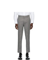 Harmony Black And Brown Wool Peter Trousers