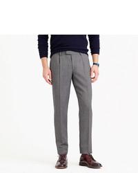 J.Crew Bowery Pleated Pant In Lightweight Wool Herringbone