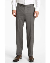 Canali Classic Fit Wool Dress Pants