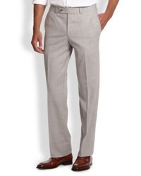 Saks Fifth Avenue Collection Stretch Wool Trousers