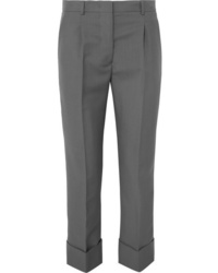 Prada Cropped Mohair And Wool Blend Straight Leg Pants