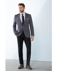 BOSS Genesis Flat Front Wool Trousers