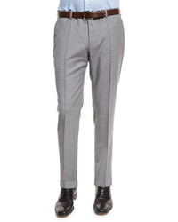 Genesis slim fit wool trousers light gray medium 660063