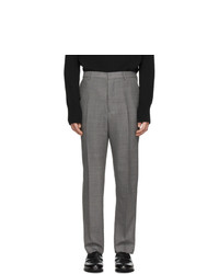 AMI Alexandre Mattiussi Grey Carrot Fit Trousers