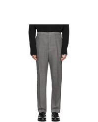 AMI Alexandre Mattiussi Grey Carrot Fit Trousers