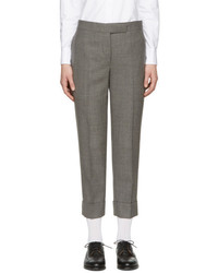 Grey classic backstrap trousers medium 5082482