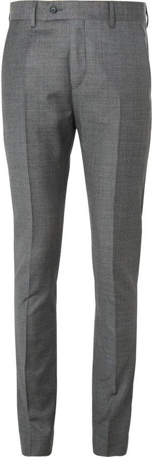Acne Studios Grey Drifter Slim Fit Wool Suit Trousers | Where to ...
