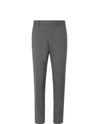 Hugo Boss Grey Gains Slim Fit Wool Trousers