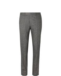 Hugo Boss Grey Slim Fit Tapered Virgin Wool Blend Tweed Trousers