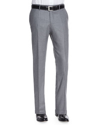 Incotex Woolcashmere Flannel Trousers Gray