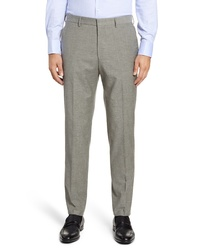 BOSS Pirko Solid Wool Cotton Trousers