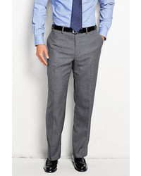 Lands' End Plain Front Traditional Fit Wool Flannel Trousers