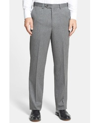 Berle Self Sizer Waist Wool Gabardine Trousers