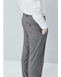Mango Outlet Slim Fit Wool Suit Trousers