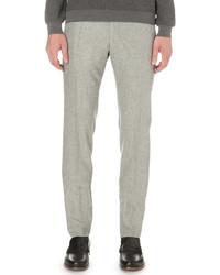 SLOWEAR Slim Fit Wool Trousers