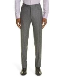 Canali Solid Wool Dress Pants
