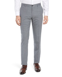 Nordstrom Signature Stretch Solid Wool Linen Trousers